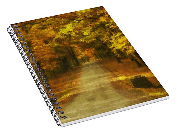 Autumn Road Spiral Notebook