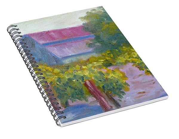 Barn In Vineyard Spiral Notebook