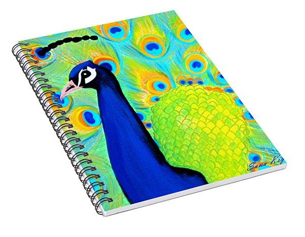 Beautiful Peacock Card Spiral Notebook