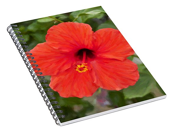 Beautiful Red Spiral Notebook