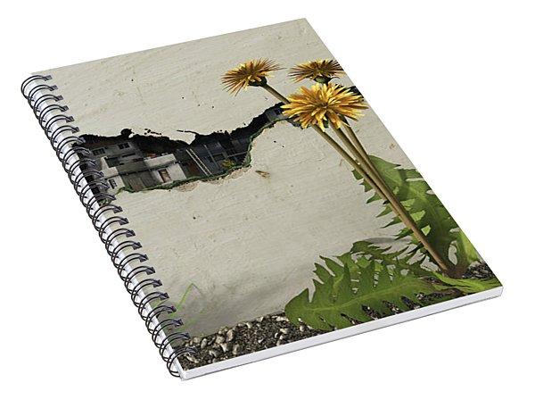 Between The Cracks Spiral Notebook