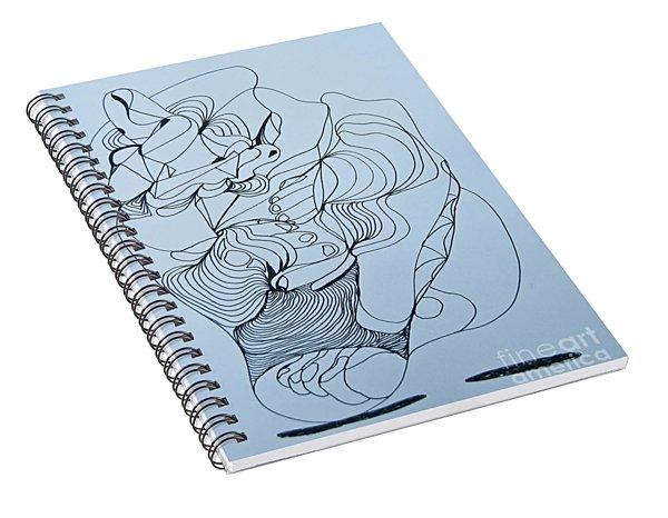 Biding Time - Doodle Spiral Notebook