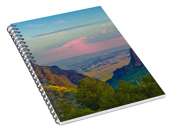 Big Bend Texas From The Chisos Mountain Lodge Spiral Notebook