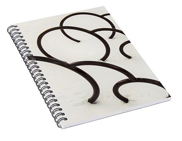 Bike Rack In Snow Spiral Notebook