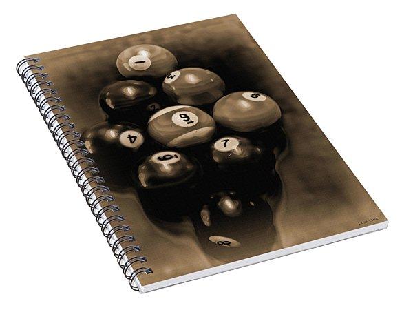 Billiards Art - Your Break - Bw Opal Spiral Notebook
