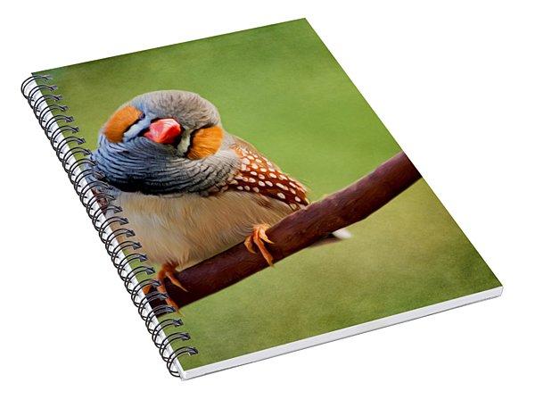 Bird Art - Change Your Opinions Spiral Notebook