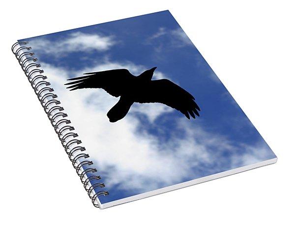 Black Above Spiral Notebook