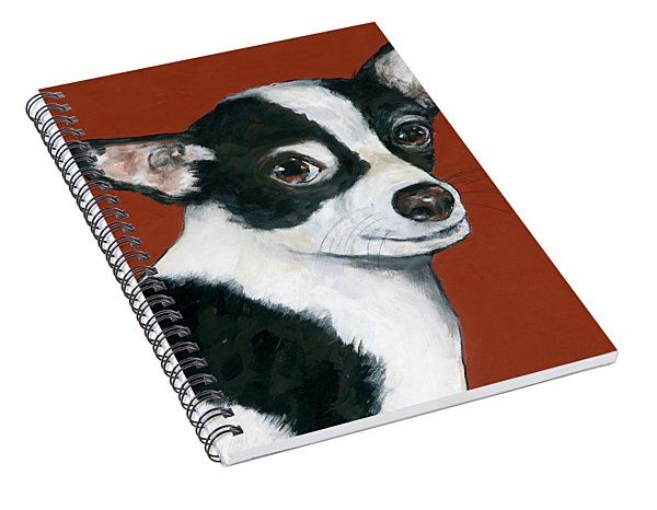 Black And White Chihuahua Spiral Notebook