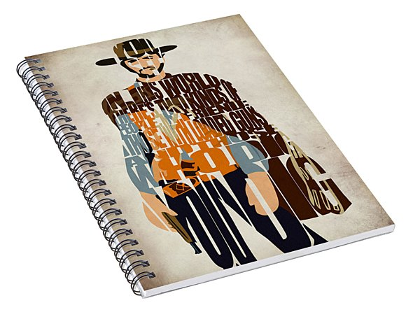Blondie Poster From The Good The Bad And The Ugly Spiral Notebook