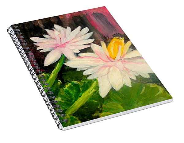 Blooming At Night  Spiral Notebook