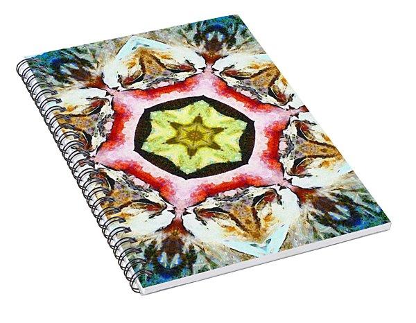 Blooming Fibonacci Spiral Notebook