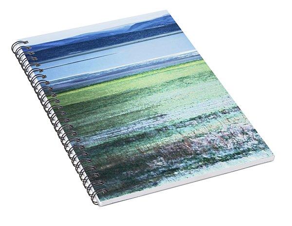 Blue Green Landscape Spiral Notebook