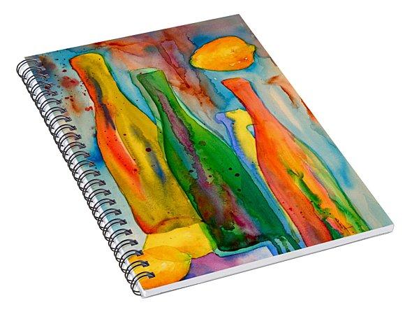 Bottles And Lemons Spiral Notebook