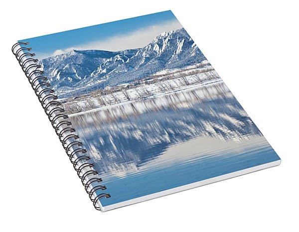 Boulder Reservoir Flatirons Reflections Boulder Colorado Spiral Notebook
