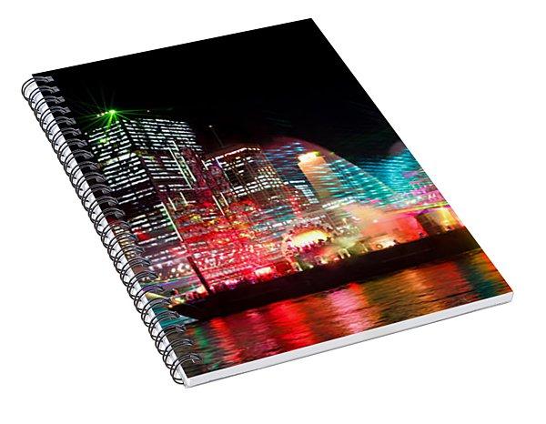 Brisbane City Of Lights Spiral Notebook