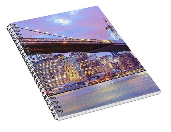 Brooklyn Bridge And New York City Skyscrapers Spiral Notebook