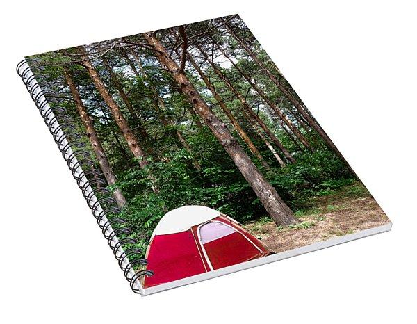 Campsite Near Holland State Park Spiral Notebook