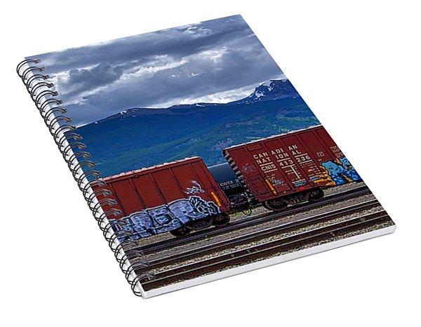 Canadian Freight Train In Jasper Spiral Notebook