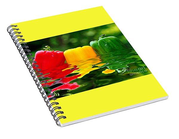 Capsicum Afloat Spiral Notebook