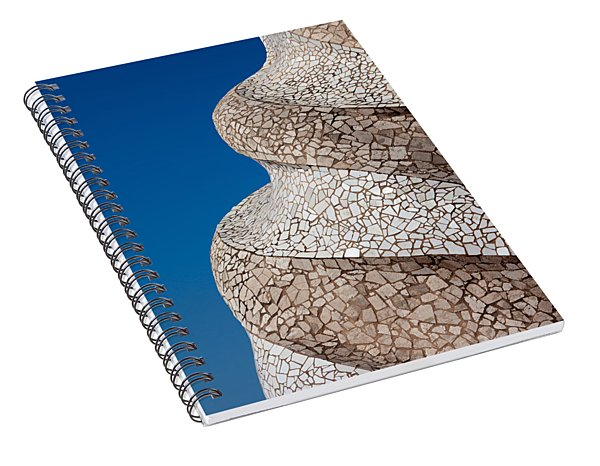 Casa Mila Abstract Chimney Detail In Barcelona Spiral Notebook