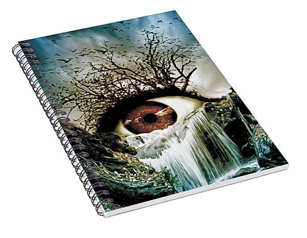 Cascade Crying Eye Spiral Notebook