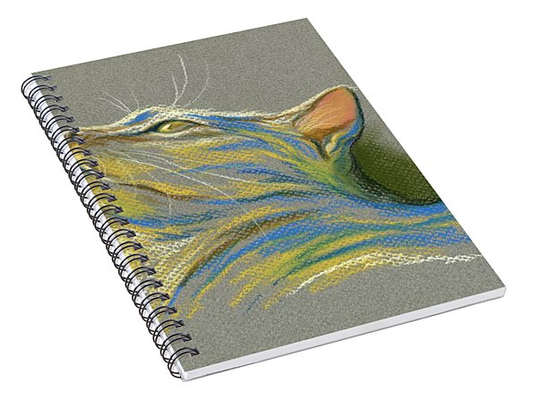 Cat Looking Up To Heaven Spiral Notebook