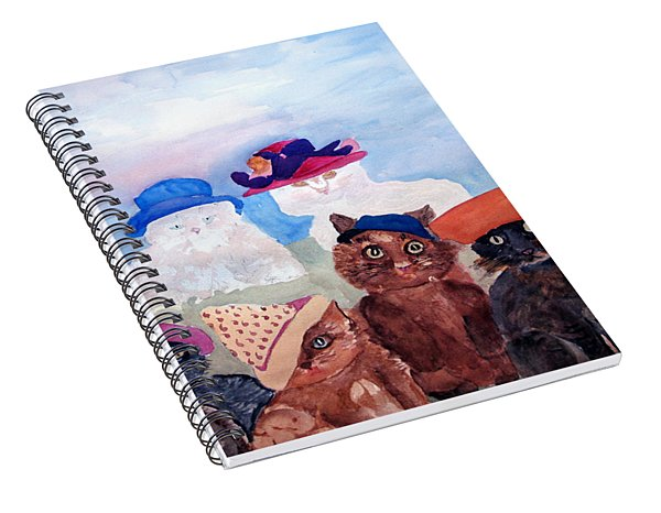 Cats In Hats Spiral Notebook