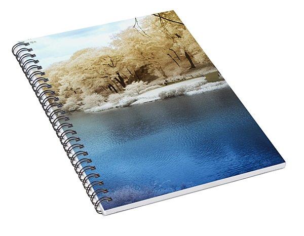 Central Park Lake Infrared Spiral Notebook