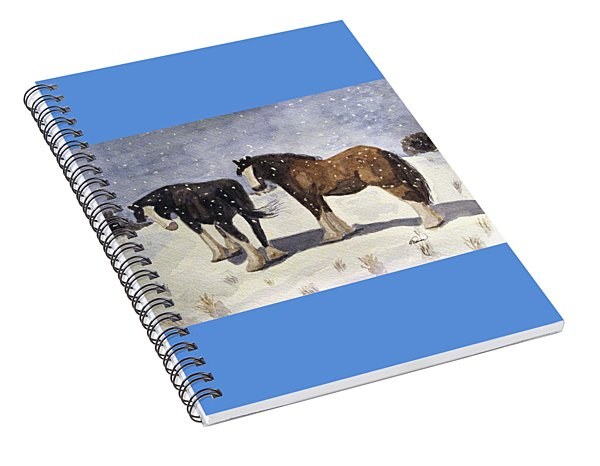 Chance Of Flurries Spiral Notebook