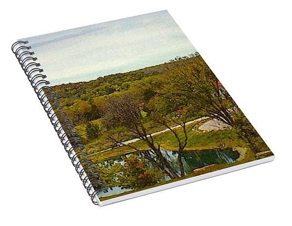Chandler Hill Patio View Spiral Notebook