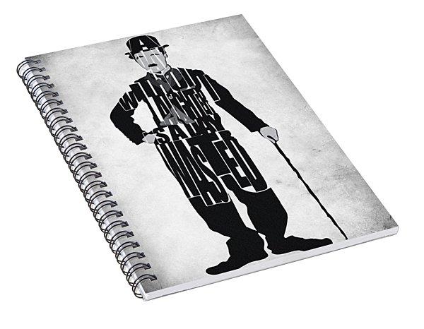 Charlie Chaplin Typography Poster Spiral Notebook