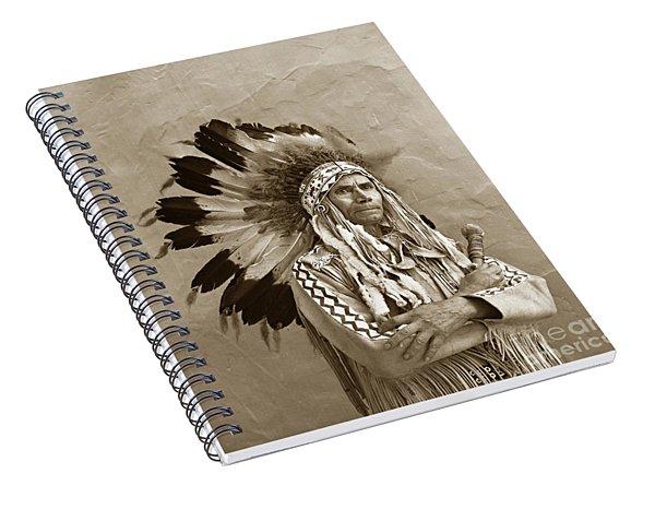 Chief Red Eagle Carmel California Circa 1940 Spiral Notebook