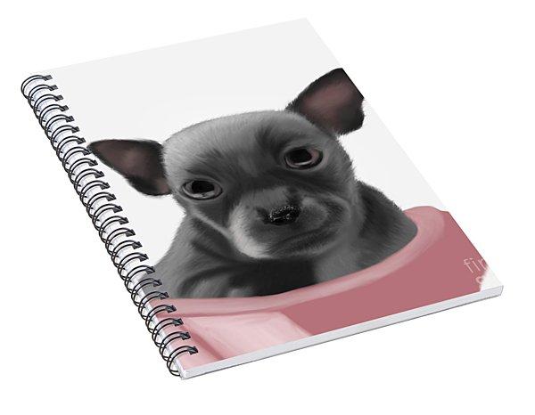 Chihauhau In A Bowl Spiral Notebook