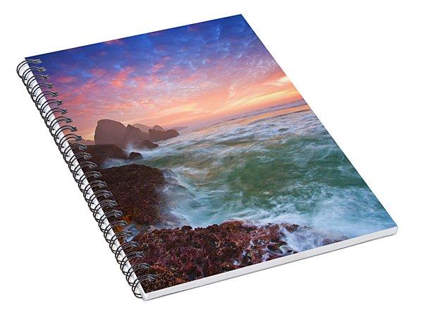 Christmas Eve Sunset Spiral Notebook