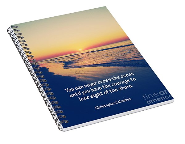 Christopher Columbus Quote Spiral Notebook