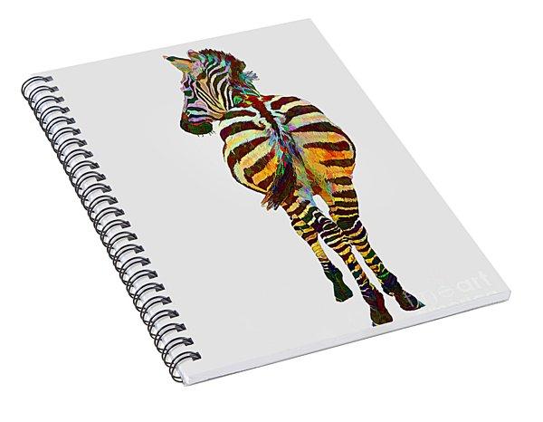 Colorful Zebra Spiral Notebook