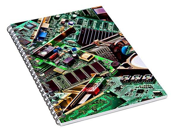 Computer Parts Spiral Notebook