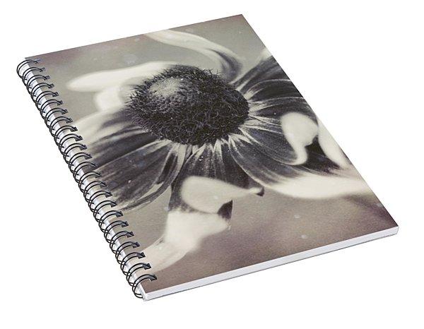 Coneflower In Monochrome Spiral Notebook