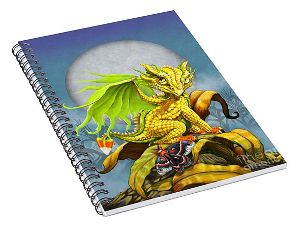Corn Dragon Spiral Notebook