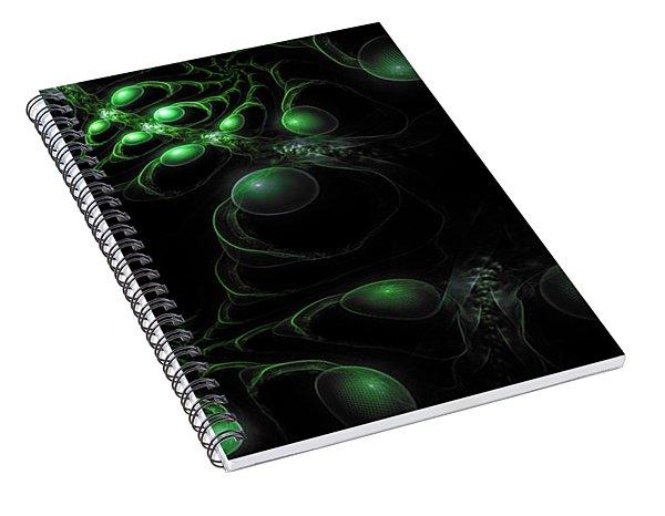 Cosmic Alien Eyes Original 2 Spiral Notebook