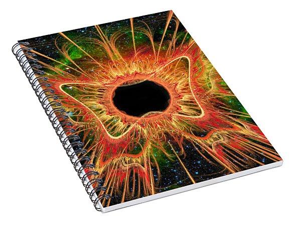 Cosmic Butterfly Phoenix Spiral Notebook
