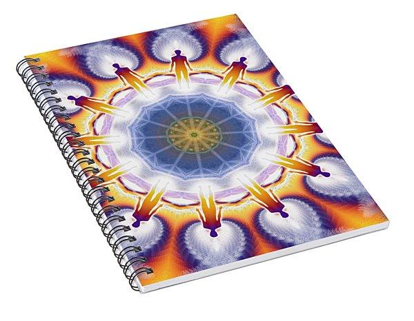 Cosmic Spiral Kaleidoscope 34 Spiral Notebook