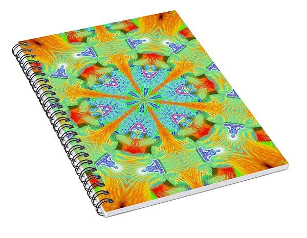Cosmic Spiral Kaleidoscope 41 Spiral Notebook