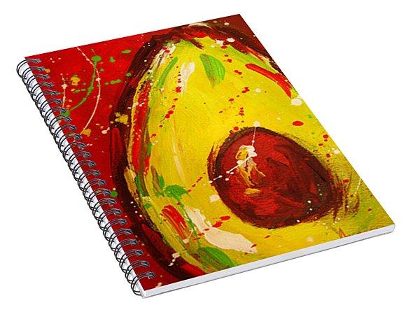 Crazy Avocados Triptych  Spiral Notebook