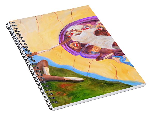Creation Of A Sock Monkey Spiral Notebook
