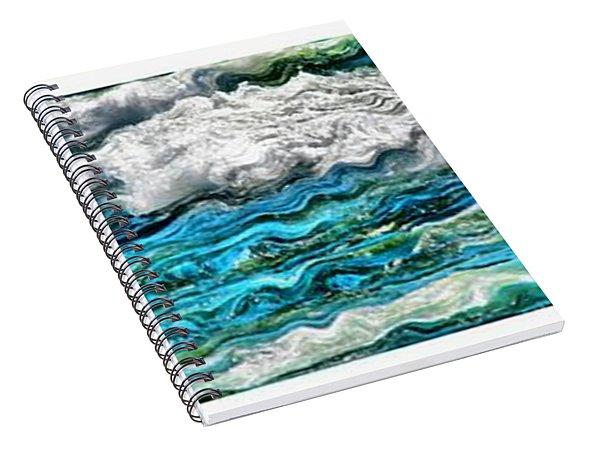 Cresting Waves Spiral Notebook