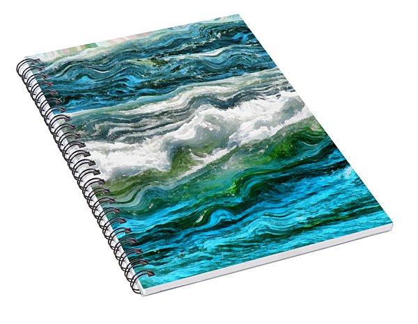 Cresting Waves Part 3 Spiral Notebook