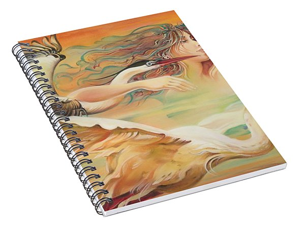 Dancing With Birds Spiral Notebook