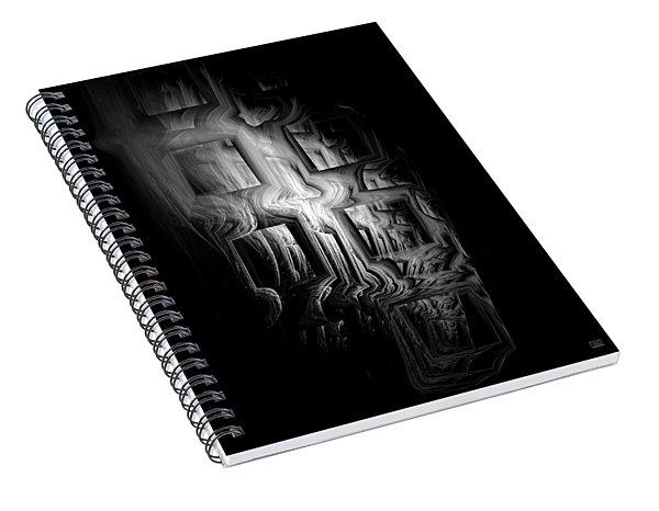 Spiral Notebook featuring the digital art Death Infinity by Menega Sabidussi