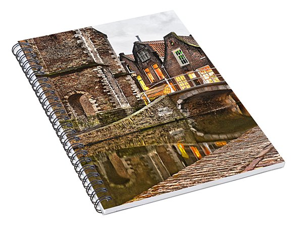 Delft Behind The Church Spiral Notebook